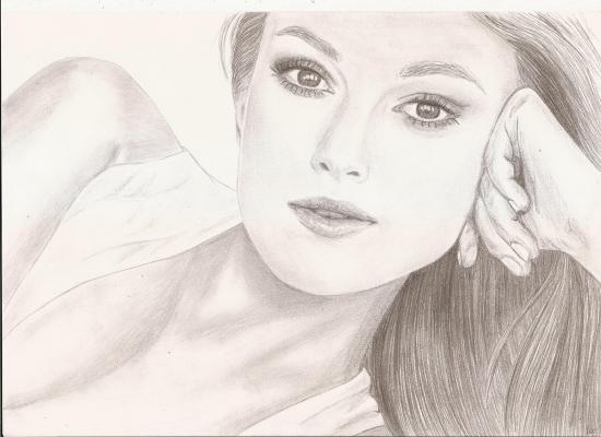 Keira Knightley by crayon2papier